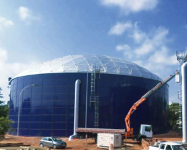 African tanks Aluminum Geodesic Domes