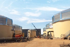 African tanks Industrial Liquid Storage Tank setup