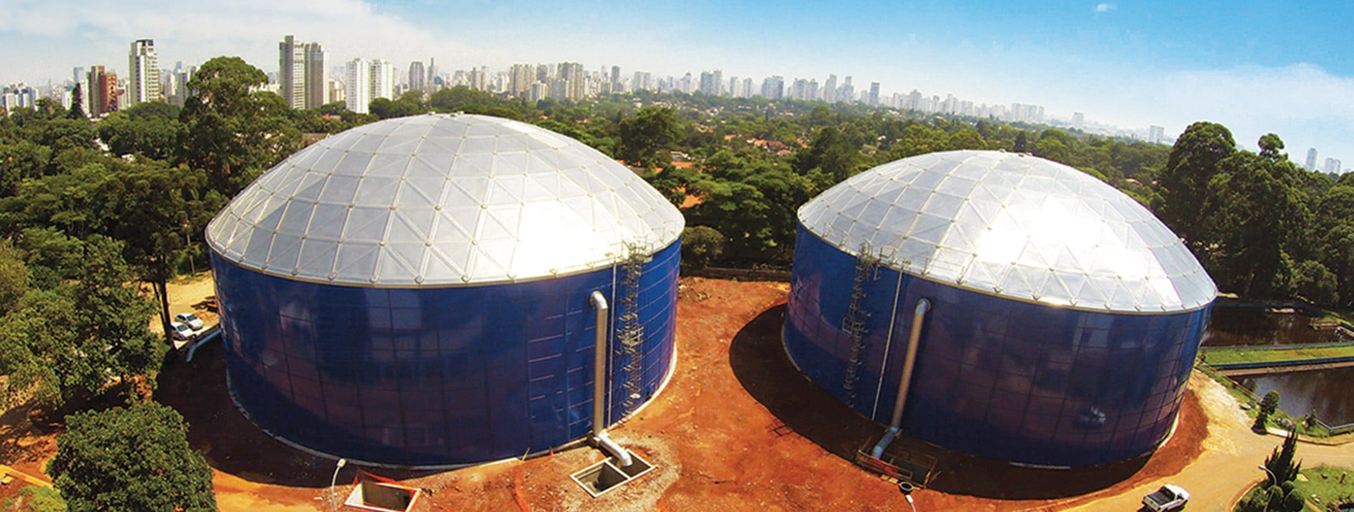 African tanks Aluminum Domes blue