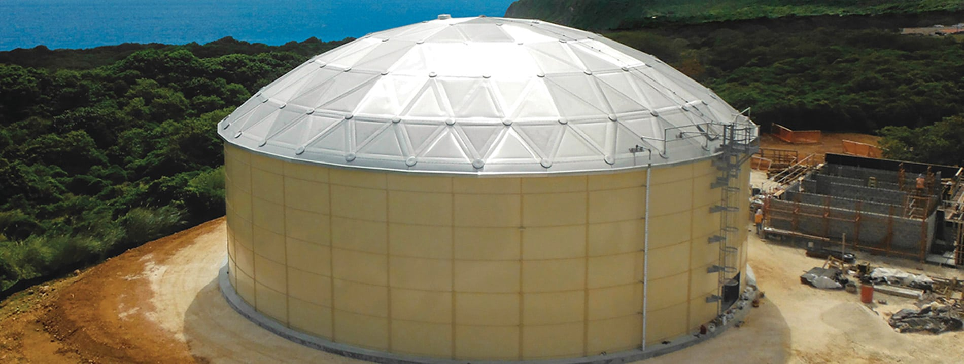 African tanks Industrial Aluminum Domes